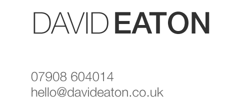 David Eaton Photography: +44(0)161 437 6659